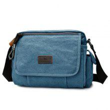 Casual Canvas Flap Messenger Bag