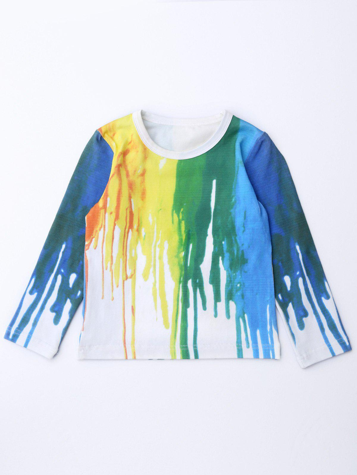 Hand-Painted Long Sleeve Tee - COLORMIX 110