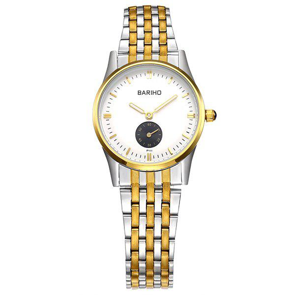 Vintage Quartz Stainless Steel Casual Watch - GOLDEN