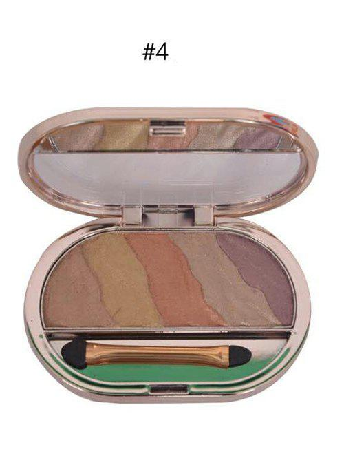 5 Colours Baked Eyeshadow Palette with Brush -
