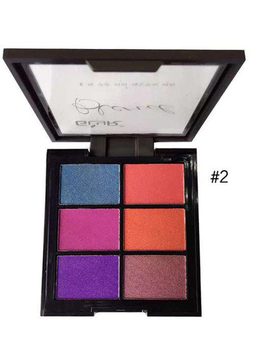 6 Colours Eyeshadow Palette - 2