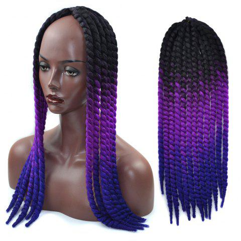 Faddish Ombre Braids Dreadlock Synthetic Hair Extension - COLORFUL