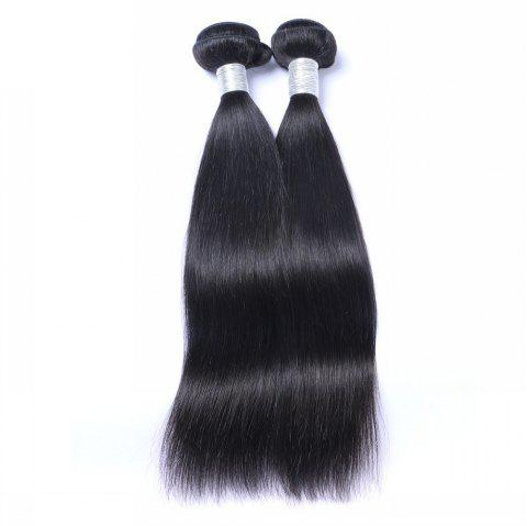 1 Pc 6A Virgin Straight Indian Hair Weave - BLACK 22INCH