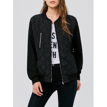 Zipper Quilted Pilot Jacket