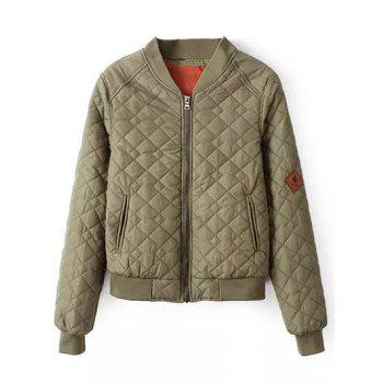 Zipper Quilted Bomber Jacket