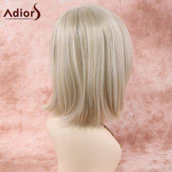 Neat Bang Short Straight Heat Resistant Fiber Wig - OFF WHITE