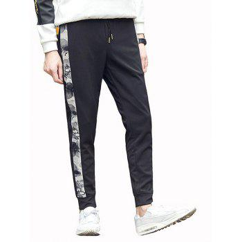 Drawstring Pocket Side Panel Jogger Pants