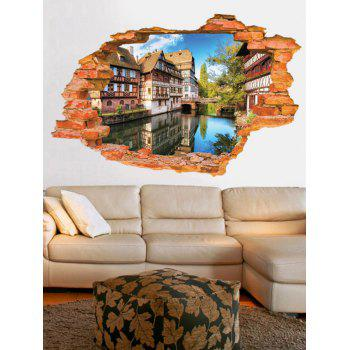 3D Landscape Living Room Removable Wall Stickers