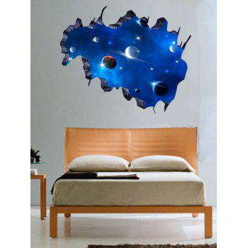 3D Galaxy Space Pattern Home Decor Wall Stickers
