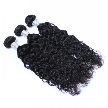 1 Pc 6A Virgin Natural Curly Indian Hair Weave - BLACK BLACK