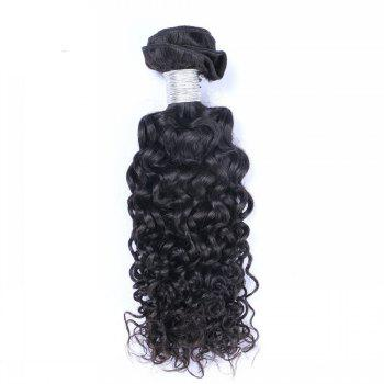 1 Pc 6A Virgin Water Curly Indian Hair Weave - BLACK 10INCH