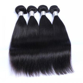 1 Pc 6A Virgin Straight Indian Hair Weave - BLACK BLACK