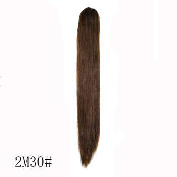 Long Straight High Temperature Fiber Ponytail