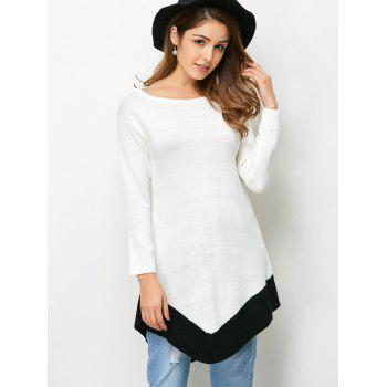 Curved Hem Tunic Sweater
