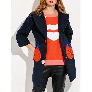 Pocket Snap Button Coat