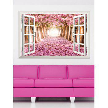 3D Floral Window Design Home Decor Removable Wall Stickers