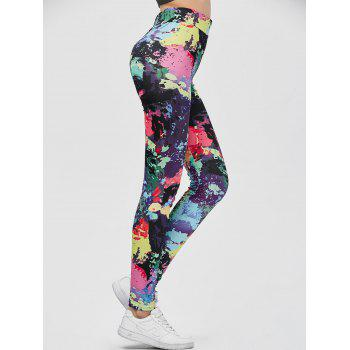 Colorful Strench Yoga Leggings - M M