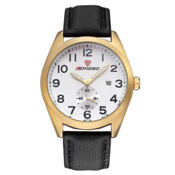 Waterproof Faux Leather Date Wrist Watch