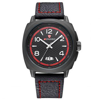 Date Faux Leather Waterproof Wrist Watch