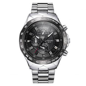 Stainless Steel Waterproof Tachymeter Quartz Watch