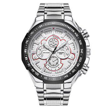 Stainless Steel Waterproof Tachymeter Analog Watch