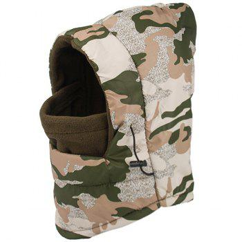 Winter Wind Protection Camouflage Print Face Mask Hat