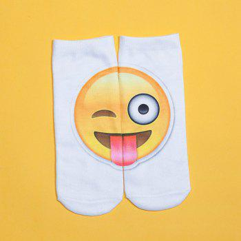 3D Big Naughty Face Print Emoji Socks