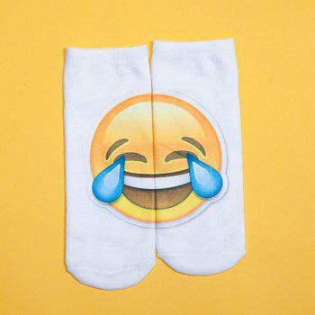 3D Big Crying Face Print Emoji Socks