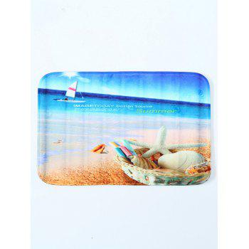 Beach Shell Water Absorbent Antislip Bathroom Door Carpet