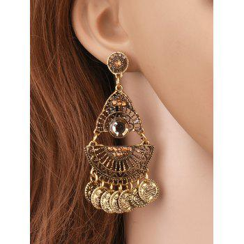 Coin Tassel Hollowed Geometry Earrings