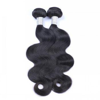 1 Pc 6A Virgin Body Wave Indian Hair Weave - BLACK 20INCH