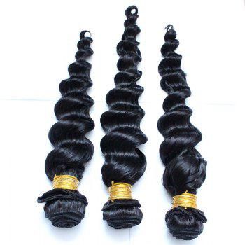 1 Pc 6A Virgin Deep Loose Indian Hair Weave - BLACK 14INCH