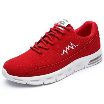Buy Lace Suede Athletic Shoes RED