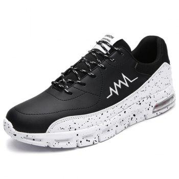 Faux Leather Lace Up Athletic Shoes