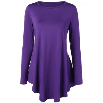 Long Sleeve Asymmetrical Mini Dress