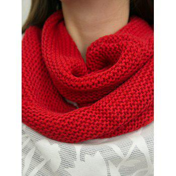 A Set of Warmth Knitting Sofa Mermaid Blanket and Neckerchief - RED