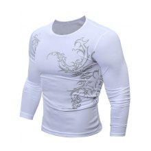 Round Neck Tattoo Print Breathable T-Shirt
