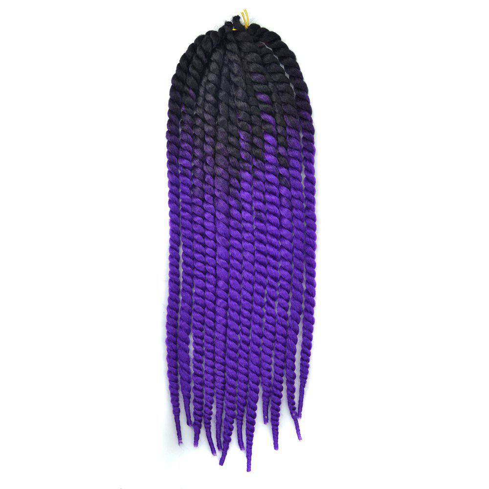Faddish Ombre Braids Dreadlock Synthetic Hair Extension - BLACK/PURPLE