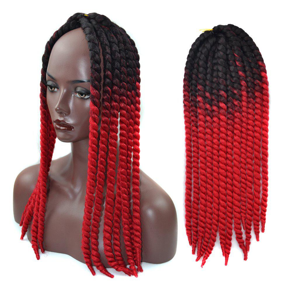2018 Faddish Ombre Braids Dreadlock Synthetic Hair Extension Red