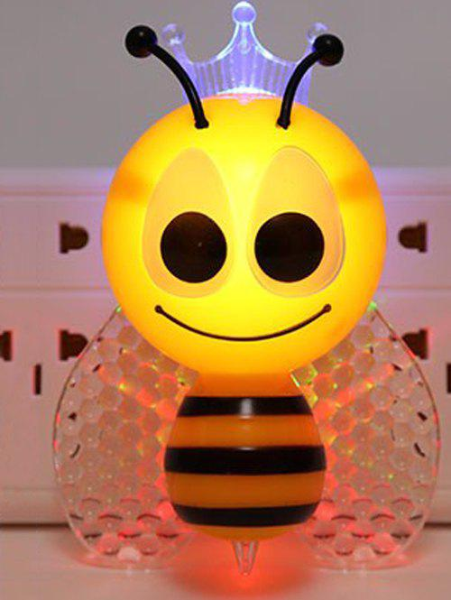 Smart Sensor Cartoon Bee Night Light Apply to EU PlugHome<br><br><br>Size: EU PLUG<br>Color: YELLOW
