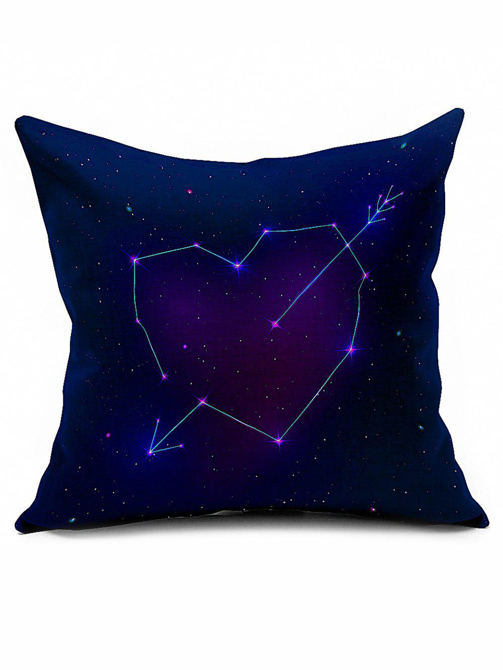 Valentine Gift Starry Home Decorative Linen Pillowcase