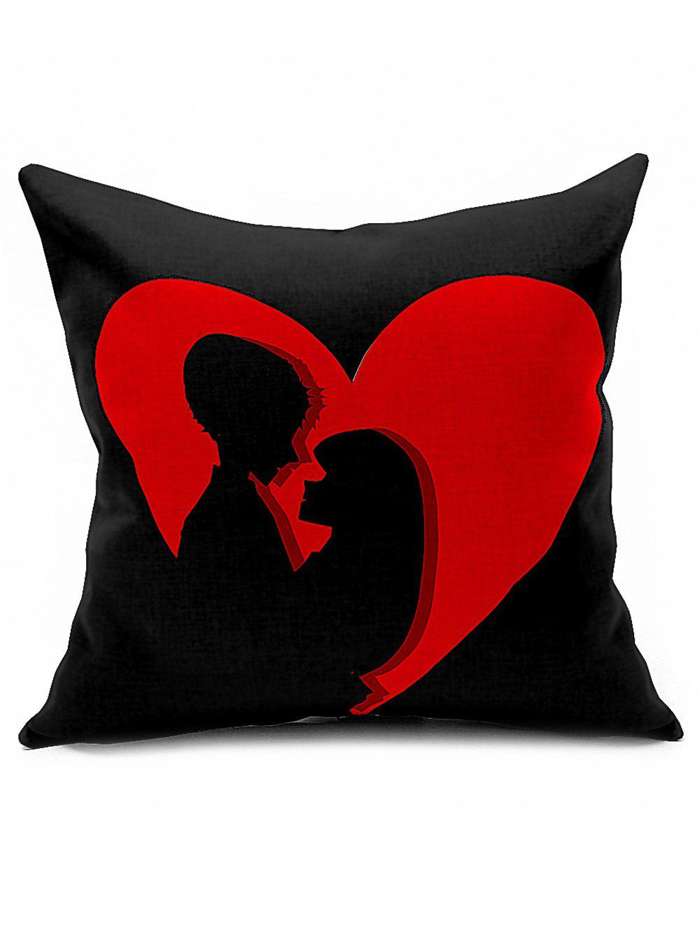 Lovers Heart Print Linen Cushion Throw Pillowcase lucky child lucky child штанишки вежливые люди хаки