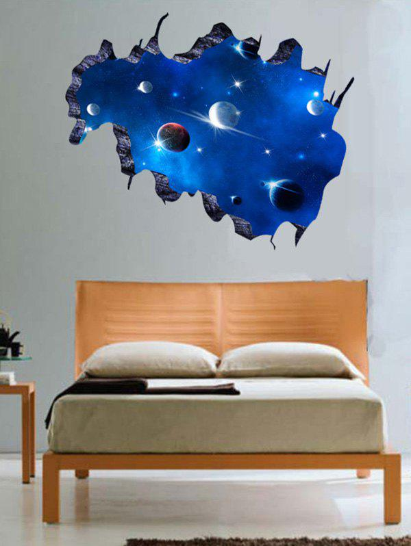 3D Galaxy Space Pattern Home Decor Wall Stickers - DEEP BLUE