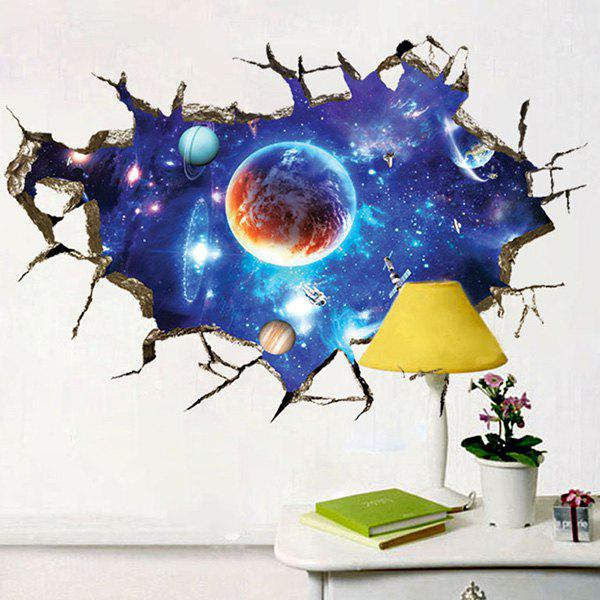 3D Space Planet Living Room Removable Wall Stickers - COLORMIX