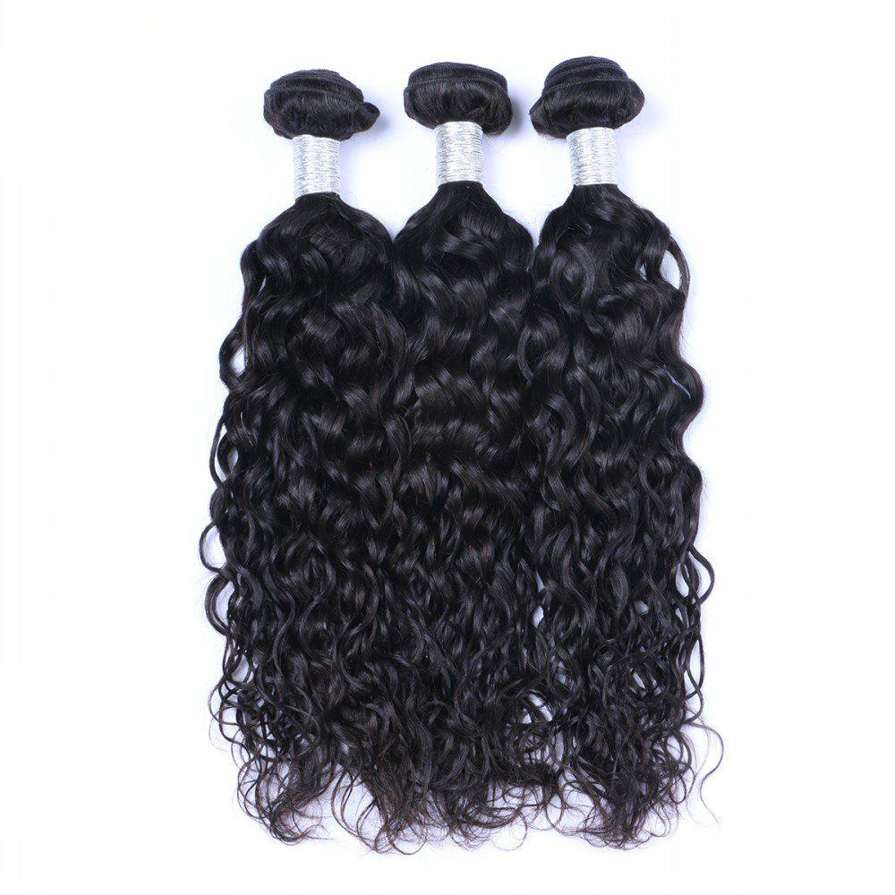 1 Pc 6A Virgin Natural Curly Indian Hair Weave - BLACK 12INCH