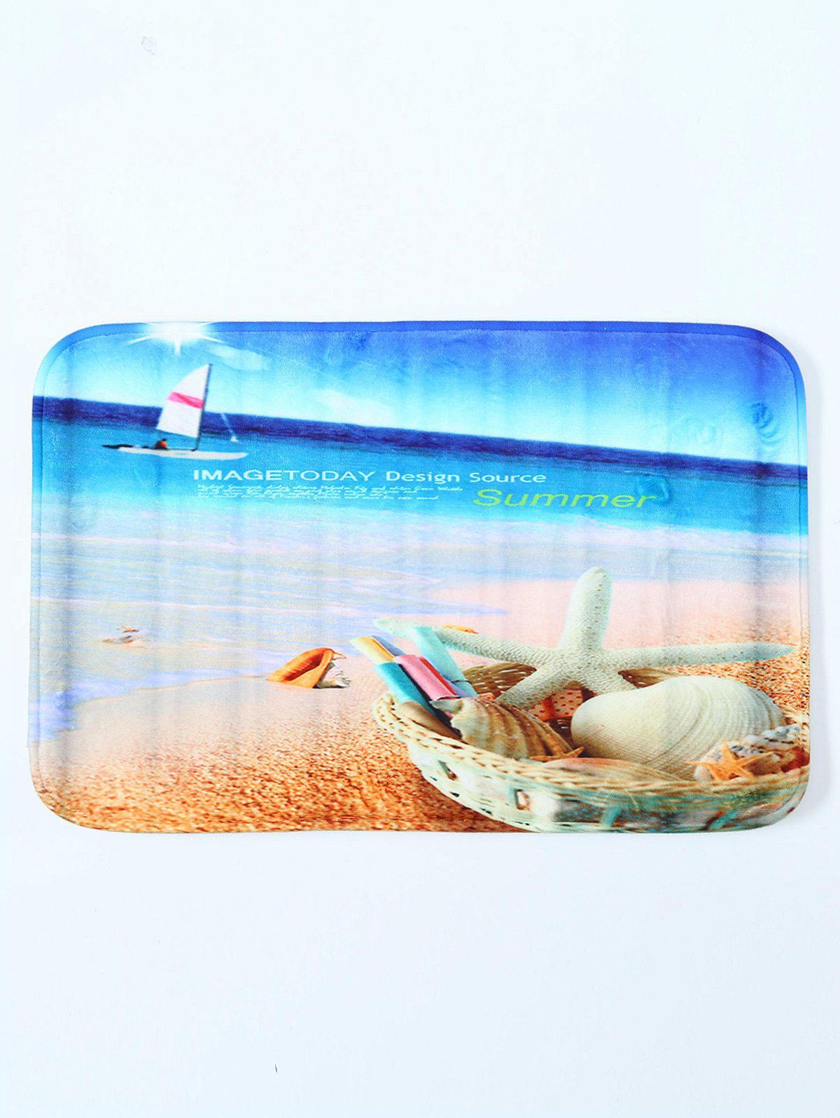 цены Beach Shell Water Absorbent Antislip Bathroom Door Carpet