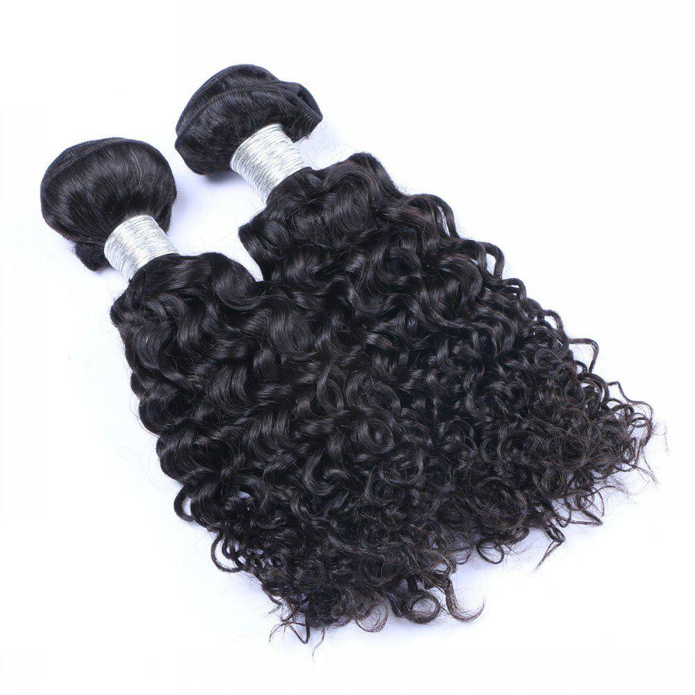 1 Pc 6A Virgin Water Curly Indian Hair Weave - BLACK 16INCH
