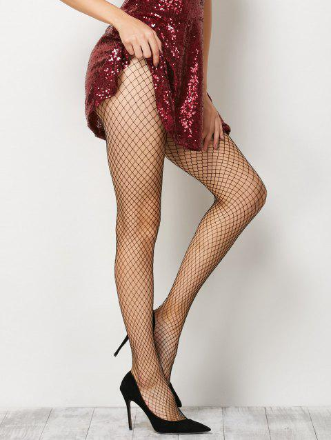 Fishnet Sheer  Pantyhose - BLACK ONE SIZE