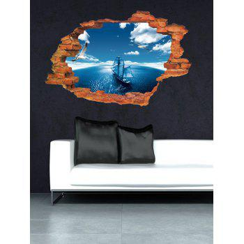Broken Wall 3D Ocean Design Home Decor Wall Stickers