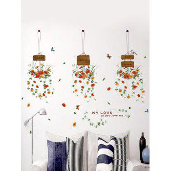 Hanging Flowers Living Room Removable Wall Stickers